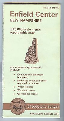 US Geological Survey topographic map metric ENFIELD CENTER New Hampshire 1984 PE