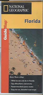National Geographic MapQuest State Guide Map FLORIDA 1999 - plastic