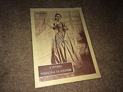 GONE WITH THE WIND Movie Herald 1939 Vivian Leigh Clark Gable Civil War R50s
