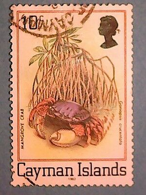 Cayman Islands: 1982 QE2 10c Flora & Fauna of the Mangrove Swamp. SG517B. Used.