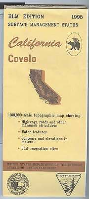 USGS BLM edition topographic map California COVELO  1995