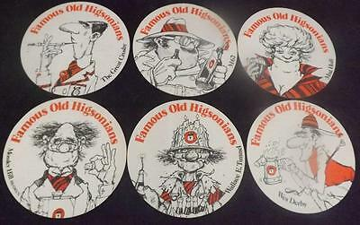 Collection of Higsons Brewery Liverpool Unused Beermats 67-72 Higsonians BM40