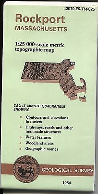 US Geological Survey topographic map metric Massachusetts ROCKPORT 1984