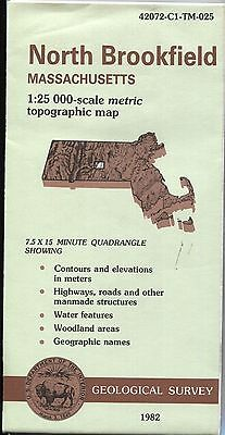 US Geological Survey topographic map metric Massachusetts NO BROOKFIELD 1982