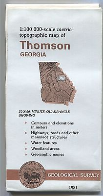 US Geological Survey topographic map metric Georgia THOMSON 1981