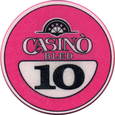CASINO BLED 10 Casino Chip Bled Slovenia #3 Pink