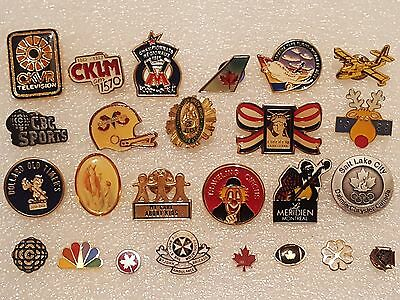 Pin -Pinback -Button -Tie Tack Lot of 25 - Radio TV St. Johns 25 Canada Football