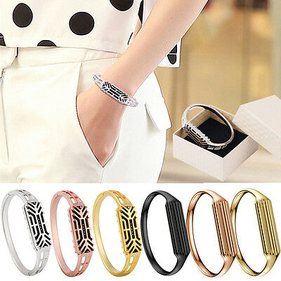 3 Colors Polished Replacement Metal Bangle Strap Bracelet For Fitbit Flex 2 NEW