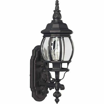Forte Lighting 1701-01 Black Outdoor Wall Sconce from the Exterior Lighting