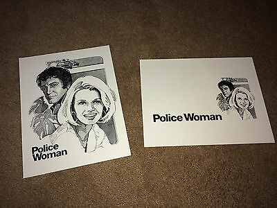 POLICE WOMAN 1977 Publicity Promo NBC TV Press Sheets Angie Dickinson Cop