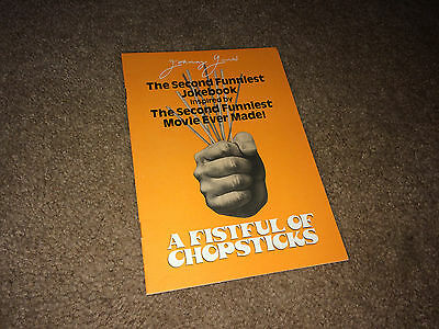 THEY CALL ME BRUCE Lee 1982 Movie Promo Book Johnny Yune Kung Fu Martial Arts
