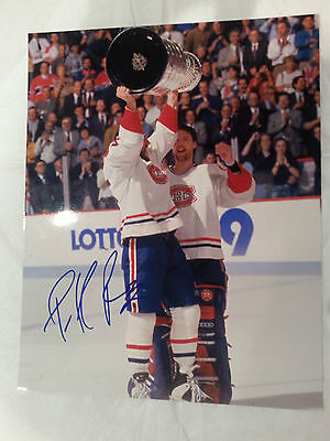 Patrick Roy signed Montreal Canadiens Stanley Cup 8x10 photo (HOF)