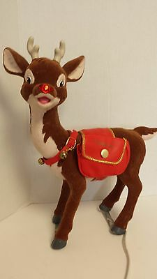 Vintage Large Animated Rudolph The Red Nosed Reindeer Rudolph Large