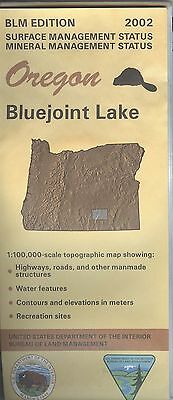 USGS BLM edition topographic map Oregon BLUEJOINT LAKE 2002 mineral