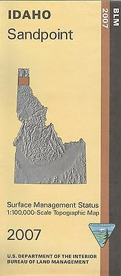 USGS BLM edition topographic map Idaho SANDPOINT 2007