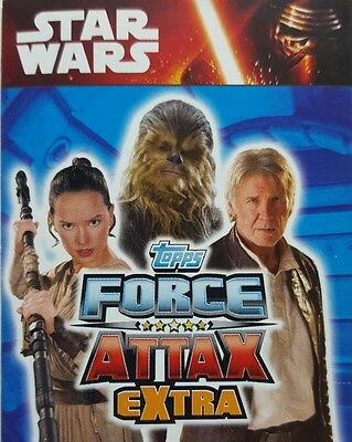Star Wars FORCE ATTAX EXTRA Trading Card Set  FORCE AWAKENS  1 - 96  topps  2016