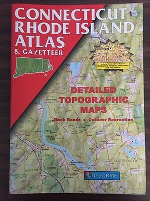 DeLorme Atlas & Gazetteer Connecticut & Rhode Island 1999