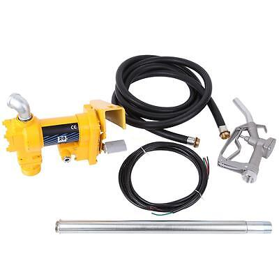 12V DC 20GPM Gasoline Fuel Transfer Pump Gas Diesel Kerosene With Nozzle Kit