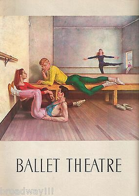 "Paul Cadmus ""BALLET THEATRE"" Alicia Alonso / Igor Youskevitch 1951 Program"