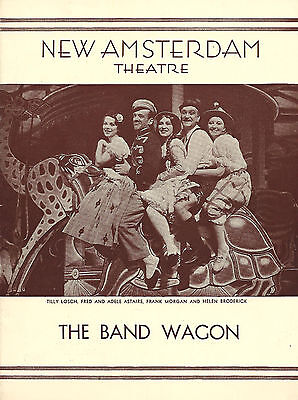 """Fred Astaire """"THE BAND WAGON"""" Helen Broderick / Tilly Losch 1931 Playbill"""