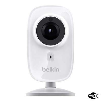 Belkin F7D7606 White NetCam HD+ Wireless IP Camera with Night Vision, Built-In