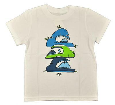 Quiksilver Toddler Boys S/S White Whale Stack Top Size 2T 3T 4T $16