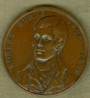 1896 British Medal to Commemorate the Centenary of the Death of Robert Burns