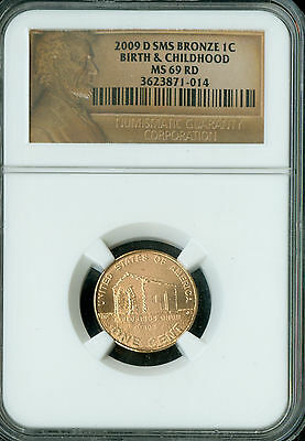 2009-D Lincoln Cent Birth Childhood Ngc Ms69 Sms Red 2Nd Finest  Spotless *