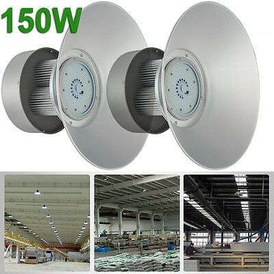 2 x 150W LED High Bay Lamp Commercial Warehouse Industrial Factory Shed Lighting