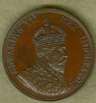 1909 British Medal for the King Edward VII Visit to Rugby, by W.J. Dingley