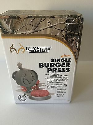 REALTREE Outfitters Weston Single Burger Press 07-0310-RT Heavy Duty Aluminum