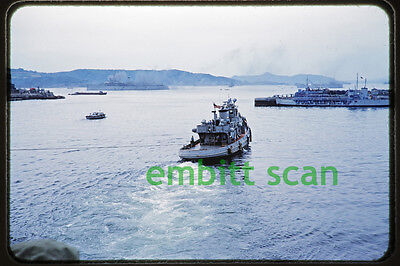 Original Slide, U.S. Navy Tug Tugboat at Sasebo Japan, early 1950s