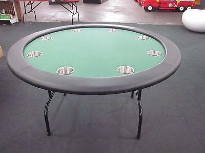 "New 52"" Round Professional Poker Table  +  Foldable  Leg [Green]  + 2 Cards"
