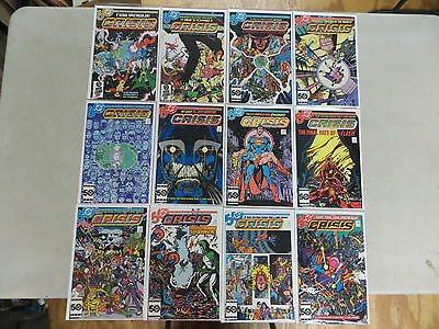Crisis On Infinite Earths 12 Is Comic Set 1-12 Complete Dc Dover High Grade