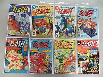 Flash 8 Issue Bronze Comic Run 297-310 Dc Dover High Grade