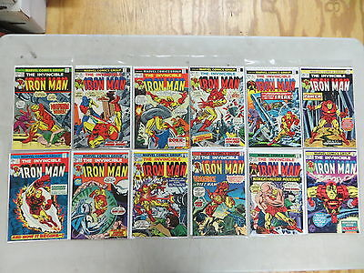 Iron Man 12 Issue Bronze Comic Run 62-80 Marvel Avengers Dover High Grade