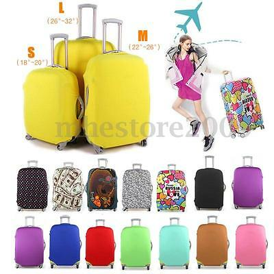 Travel Luggage Cover Protector Elastic Suitcase Dustproof Pure Color Pattern