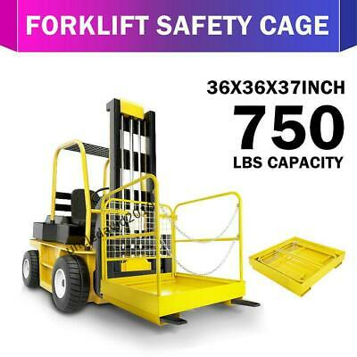 Heavy Duty Forklift Safety Cage Work Platform Basket Aerial Fence Rails Lift