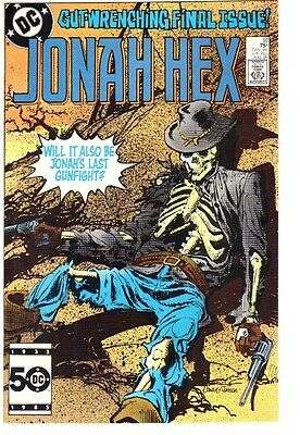 Jonah Hex #92 (1985)  NM+ 9.6/9.8  Last issue!  Direct Edition