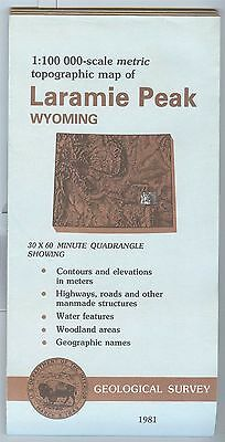 US Geological Survey topographic map metric Wyoming LARAMIE PEAK 1981