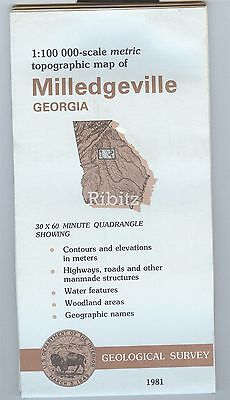 US Geological Survey topographic map metric MILLEDGEVILLE Georgia 1981