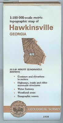 US Geological Survey topographic map metric HAWKINSVILLE Georgia 1978