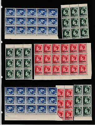 Edward VIII GB STAMPS Over-Print TANGIERS or MOROCCO AGENCIES Blocks REF:QE433