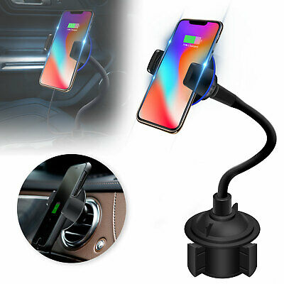 Qi Wireless Car Charger Charging Pad Holder Mount For iPhone X/8 Samsung S8 S9