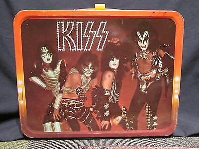 KISS Lunchbox   original 1977 King-Seeley / Aucion w/ THERMOS   Excellent