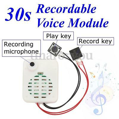 30s Button Sound Recordable Voice Sound Module Music Box for Plush Doll Toy