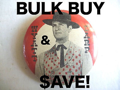 WHOLESALE! 10x WYATT EARP VINTAGE TV COWBOY PINBACK BADGES AUSSIE ONLY WHOLESALE