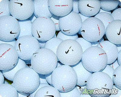 24 Nike PD LONG Lake Golf Balls - PEARL / GRADE A - from Ace Golf Balls