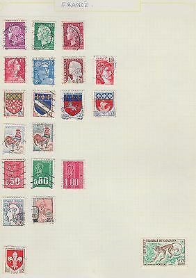 FRANCE Assorted on Old Book Pages (removed to send) #