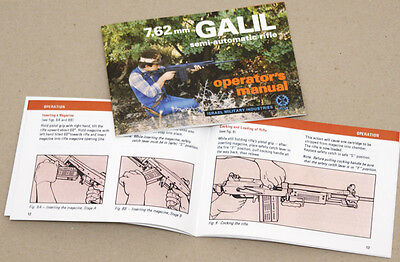 Galil 7.62mm semi-auto. rifle Operator's Manual 1983 version, as on 2 pictures